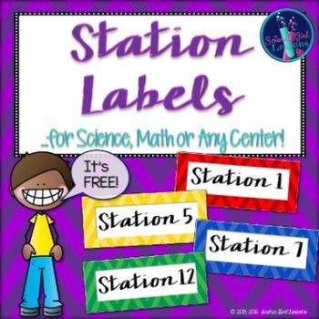 Station Labels - Chevron Style {FREEBIE}
