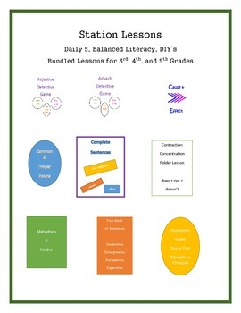 Station Lessons - Daily 5, Balanced Literacy, or DIY's