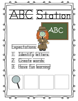 Station Markers: For the Self-Contained Classroom And Work