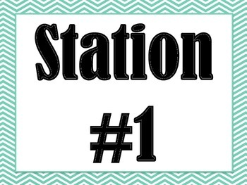 Station Signs in (Teal Chevron)