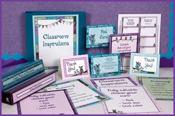 Stationery Bundle - Coordinates with Book Smart Owls Class
