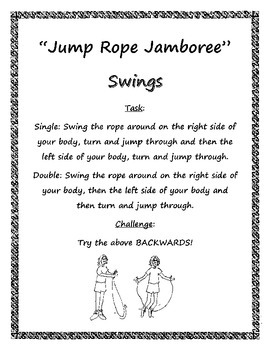 Stationmania: Jump Rope Jamboree - Swings Station Card