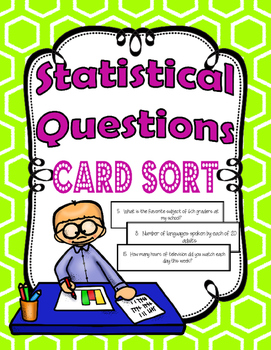 Statistical Questions Card Sort