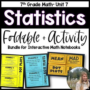 Statistics (7th Grade Foldable & Activity Bundle)