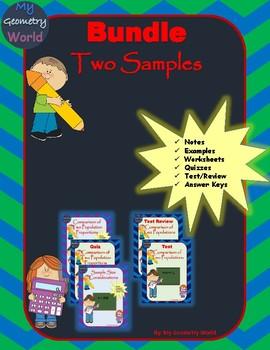 Statistics Bundle: Two Samples