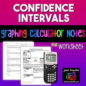 Statistics Confidence Intervals for the Mean on a TI 83 -
