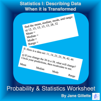 Statistics I. Practicing with Data