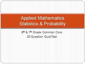 Statistics & Probability - 6th & 7th Grade Common Core - Q