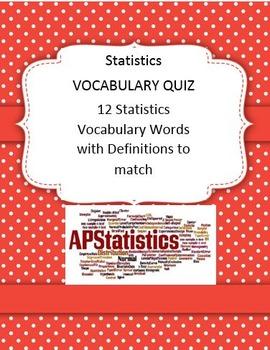Stats Vocabulary Quiz Algebra 2 Math 2 Math 3