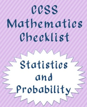 Statistics and Probability CCSS checklist (quarters)