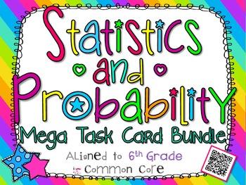 Statistics and Probability Mega Task Card Bundle