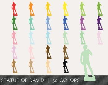Statue of David Digital Clipart, Statue of David Graphics