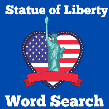 Statue of Liberty Activity | Statue of Liberty Word Search