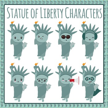 Statue of Liberty Characters Clip Art Pack for Commercial Use