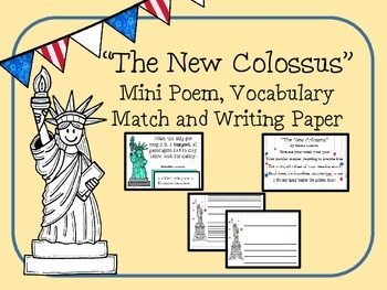 "Statue of Liberty's ""The New Colossus"": Mini poem, vocab m"