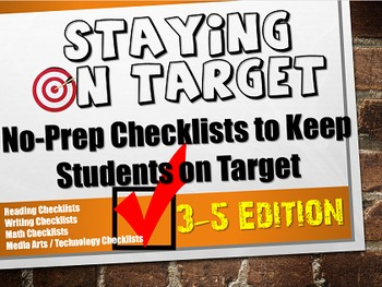 No Prep Stay on Target Reading, Writing, Math Checklists f
