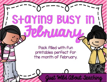 Staying Busy in February {literacy & math printables}