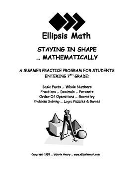 Staying in Shape Summer Math Workbook