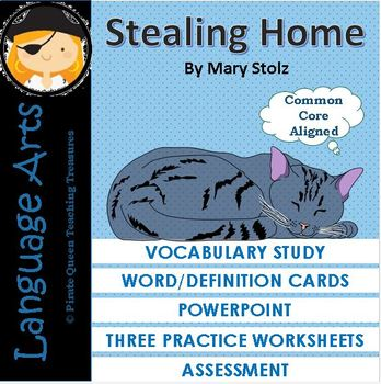Stealing Home Vocabulary Activities/Common Core Aligned