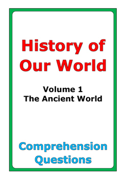 """Steck-Vaughn """"History of Our World: Volume 1"""" comprehensio"""