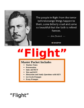 "Steinbeck ~ ""Flight"" MASTER PACKET with KEY (18 pages)"