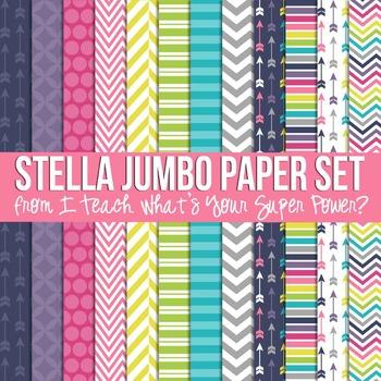 Stella Jumbo Set Digital Papers