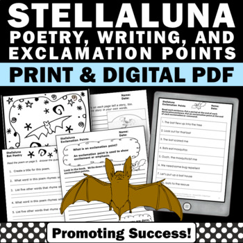 Halloween Writing Activities Stellaluna BATS Book Supplement