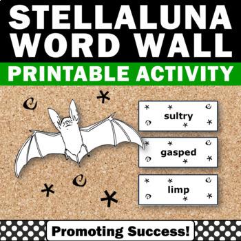 Stellaluna Book Vocabulary Word Wall { Bats Unit }