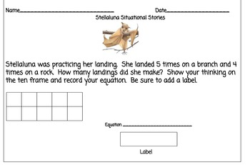 Stellaluna Situational Stories