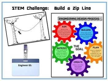 Stem Challenge:  Zip Line Reflection Book