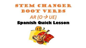 Stem-Changing AR Verbs (O-UE): Spanish Quick Lesson