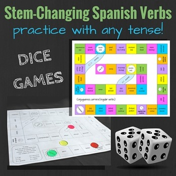 Stem-Changing Verbs in Spanish: Dice Games for Reviewing