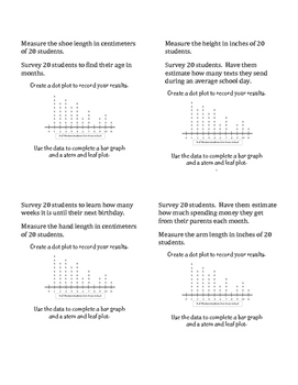Stem & Leaf Plot and Bar Graph Mini Project