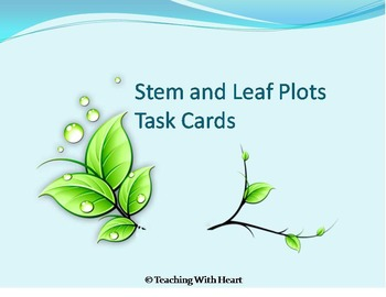 Stem and Leaf Plot Activity - Center Activity - Task Cards