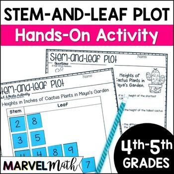 Stem and Leaf Plot Cut & Paste by Marvel Math