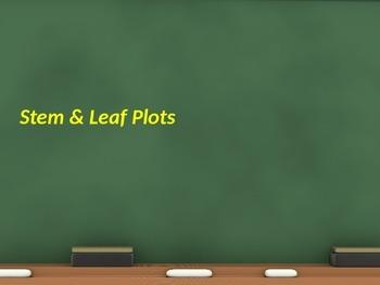 Stem and Leaf Plots