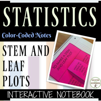 Stem and Leaf Plots Interactive Notebook Notes and Practice