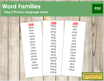 Step 3: Word Families