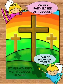 Step-By-Step Art Lesson – Easter Crosses