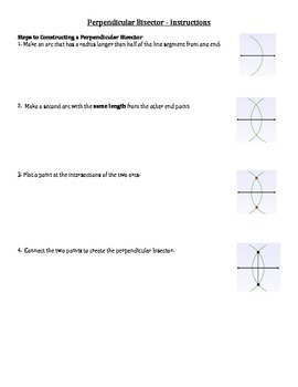 Step By Step Instructions for Geometric Constructions