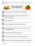 Paragraph Cut & Paste: Pumpkins