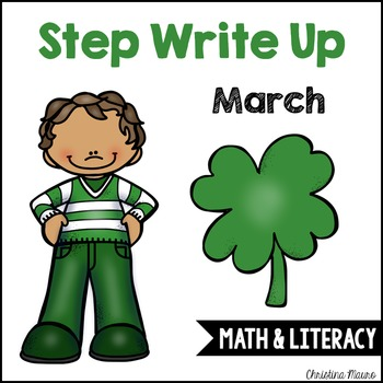 Step Write Up - March Write the Room {Math & Literacy}