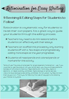 Step by Step Ratiocination (Revising & Editing) Printable