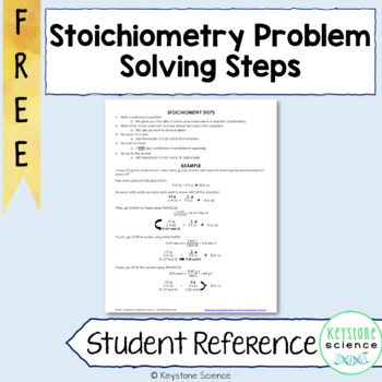 Step by Step Strategy to Solve Stoichiometry Problems Chem