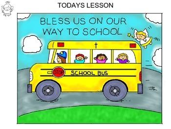Step-by-step art lesson featuring a school bus scene - fai