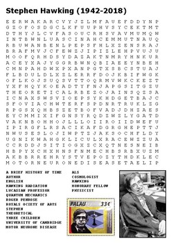 Stephen Hawking Word Search