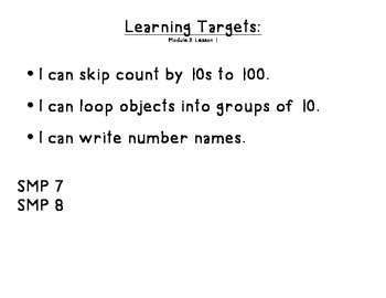 Stepping Stones Module 3 Learning Targets
