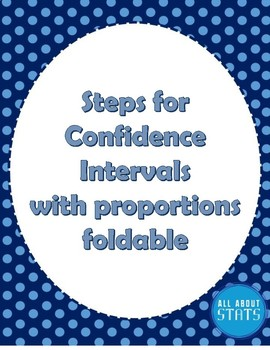 Steps for Confidence intervals with proportions