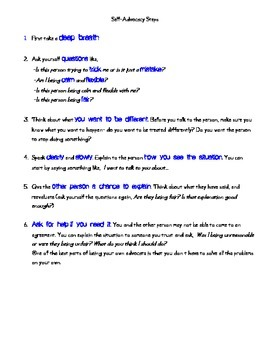 Steps for Self-Advocacy - Special Needs Young Adults and Adults