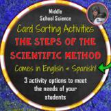 Steps of the Scientific Method Card Sorting Activities in